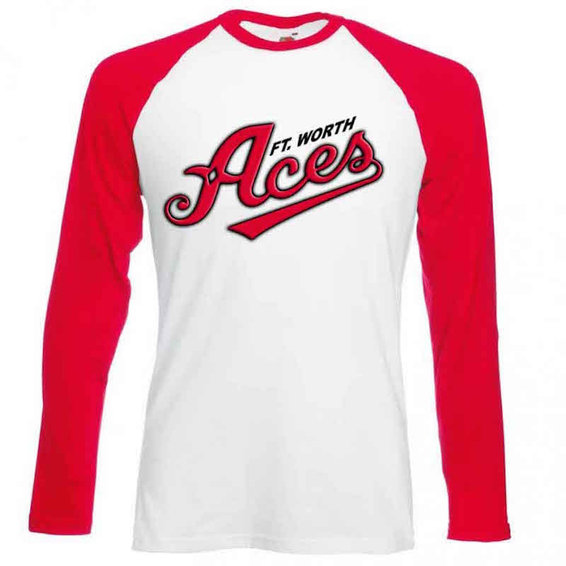 Ft. Worth Aces Red Long Sleeve T-Shirt